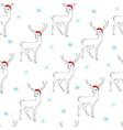 christmas cartoon characters seamless pattern vector image vector image