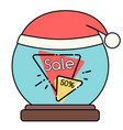christmas flyer with sale and discount vector image vector image