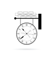 clock instrument on white vector image vector image