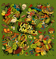 colorful hand drawn doodle latin american vector image vector image