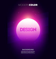 colorful neon party poster abs vector image vector image