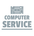 computer service logo simple gray style vector image vector image