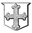 cross flory are more used as a charge in a coat vector image vector image
