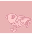 Cute birds cartoon drawing in heart form vector image vector image