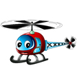 cute helicopter cartoon vector image