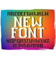 decorative vintage font vector image vector image