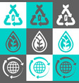 eco concept logo set vector image