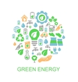 Ecology background with environment green energy vector image vector image