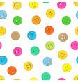 emoji seamless pattern vector image vector image