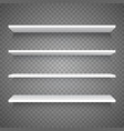 empty white shop shelf vector image