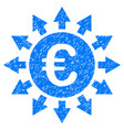 euro payments grunge icon vector image vector image