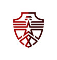 falcon star logo template vector image
