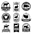 Farm animal vintage meat butcher shop vector image vector image