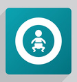 flat baby icon vector image vector image