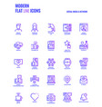 flat line gradient icons design-social media amp vector image vector image