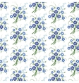 Floral pattern with blue flowers vector image vector image