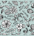 floral seamless pattern with butterfly and vector image vector image