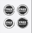 free delivery stamp 4 vector image vector image