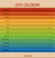 Full color 2014 calendar vector image