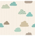 Funny clouds pattern vector image vector image