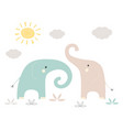funny kids print elephant vector image