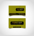golden business card template vector image vector image