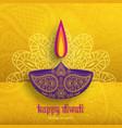 greeting card for diwali festival celebration in vector image vector image