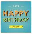 Happy Birthday retro poster EPS10 vector image vector image