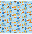 happy hanukkah traditional decoration background vector image