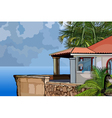 House in the tropics by the sea vector image vector image