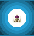 isolated muslim flat icon traditional vector image vector image