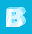 letter b ice font icicles alphabet freeze vector image