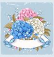 luxurious hydrangea vector image vector image