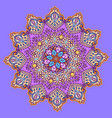 mandala pattrn beautiful colorful greeting card vector image