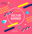 memphis style banner template 80-90s background vector image
