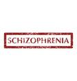 mental disorder schizophrenia stamps vector image vector image