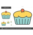 Muffin line icon vector image