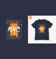new york city graphic mens dynamic t-shirt design vector image vector image