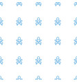 newborn child icon pattern seamless white vector image vector image