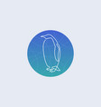 one line penguin logo vector image vector image