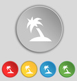 Palm Tree Travel trip icon sign Symbol on five vector image vector image