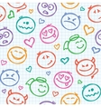 pattern of smiles vector image vector image