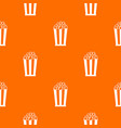 popcorn in striped bucket pattern seamless vector image vector image