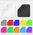 realistic 3d square adhesive colored blank vector image vector image