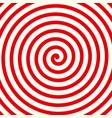 red spiral background shape vector image