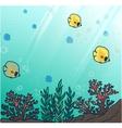 Sea or ocean underwater coral reef vector image vector image