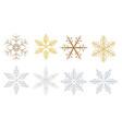 set a hi detail decorative snowflake vector image