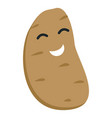 smile potato icon flat style vector image vector image