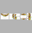 stock floral set seamless flower cards from vector image