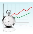 Stopwatch and Diagram vector image vector image